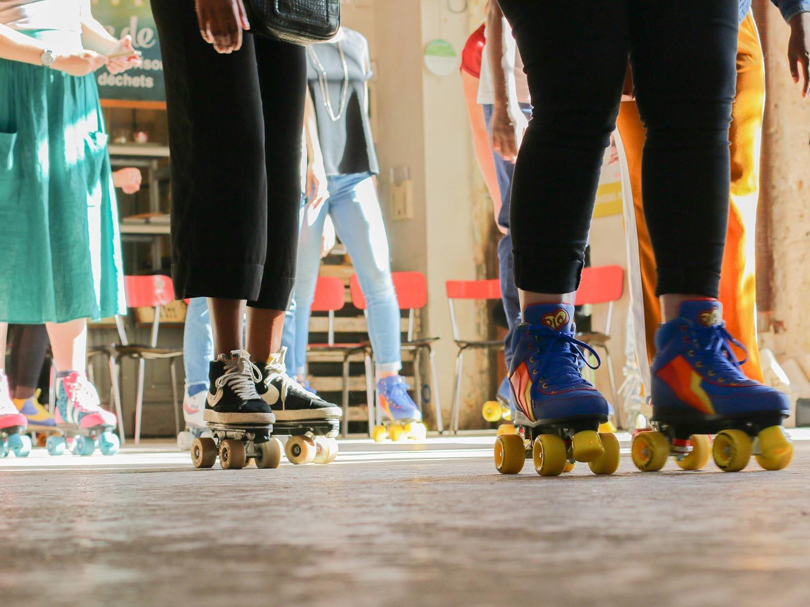 Apéro patins - Résidence mensuelle de Flaneurz à la REcyclerie