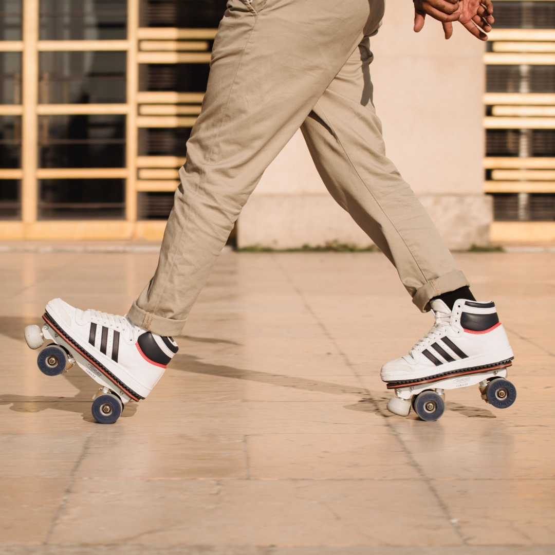 FALL 2020 Skates: Adidas Top Ten - personalized Premium rolling part Photo: @amaury_cibot Model: @mikl_faiz 