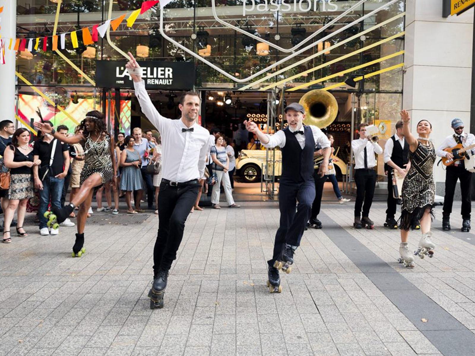 Roller dance show by SkateXpressv