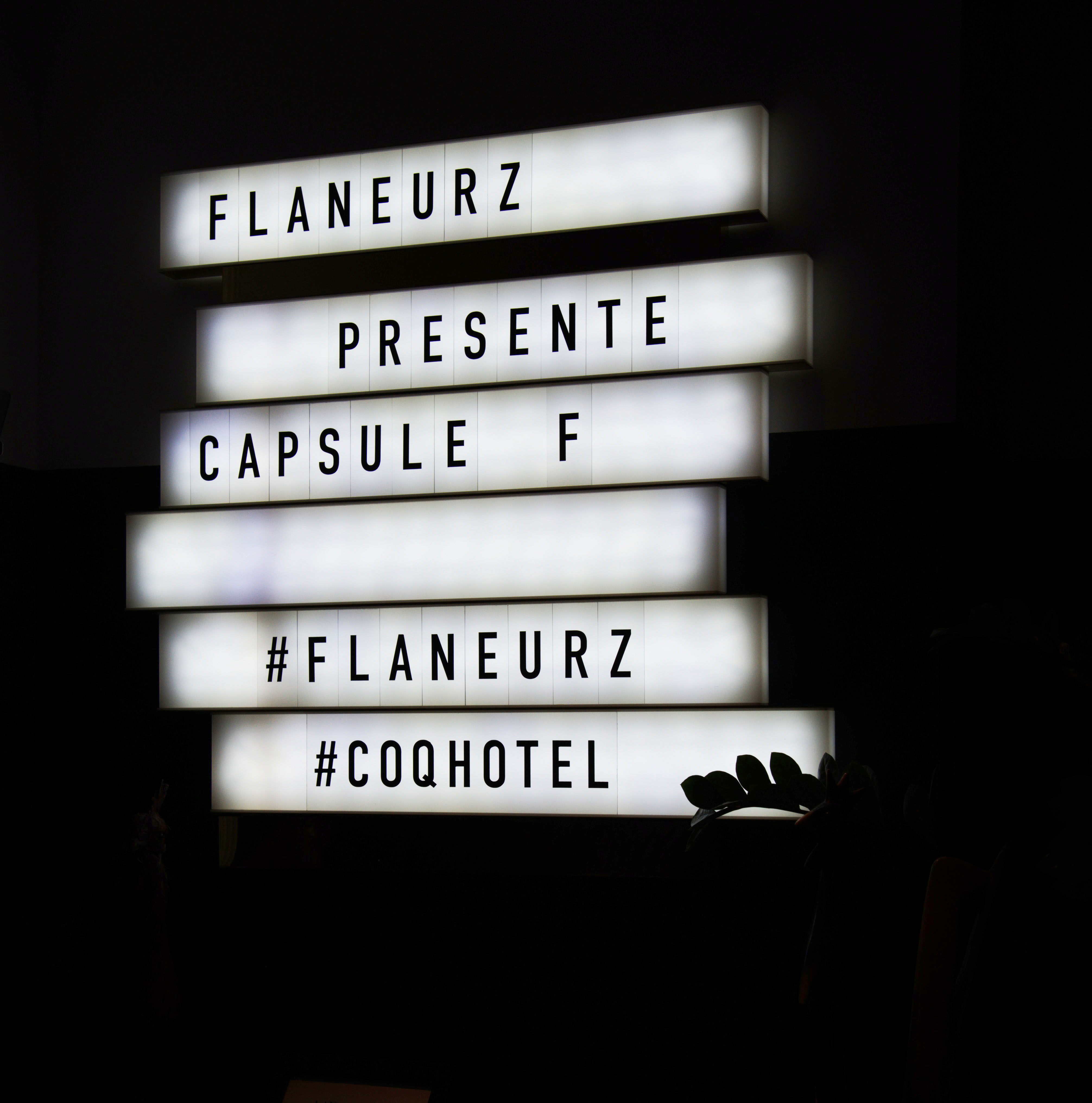 Flaneurz x COQ Hotel